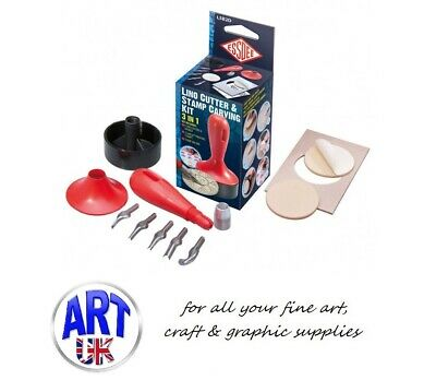 Essdee Lino Cutter & Stamp Carving Craft Kit 3 in 1 block printing design
