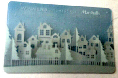 """MINT WINNERS MARSHALLS white x-mass Gift Card """""""" COLLECTIBLE NO VALUE BILINGUAL"""