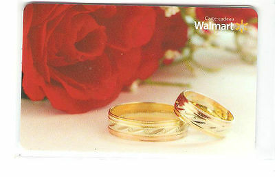 Walmart Canada  RED ROSE&RING GIFT CARD FROM CANADA BILINGUAL NO VALUE