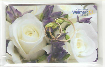 Walmart Canada WEDDING BANDS GIFT CARD FROM CANADA BILINGUAL NO VALUE