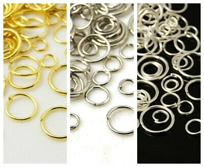 100 or 150pcs Gold or silver jump rings 4mm 5mm 6mm 7mm x 0.7mm FREE P+P