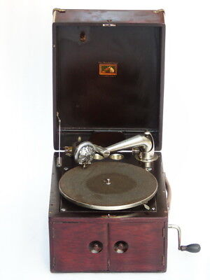 Antique Ultra Rare Large His Masters Voice Hmv Turntable Gramophone Phonograph
