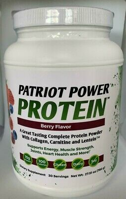 Patriot Power Protein Berry Flavor  30 Servings Brand New Sealed