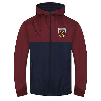West Ham United FC Official Football Gift Boys Kids Shower Jacket Windbreaker