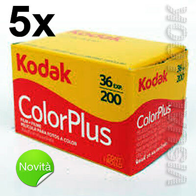 5 Pieces Film Roll Kodak Colour plus 36 Photo 200 Iso 35 mm Exp 2021