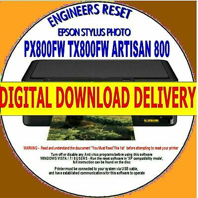 Epson Px800Fw Tx800Fw Artisan 800 Waste Ink Counter Reset Fix Fast Download Lnk