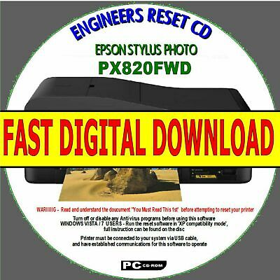 Epson Stylus Px820Fwd Waste Ink Pad Counter Full Reset Fix Fast Digital Download