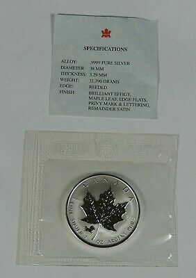 2002 $5 1oz. Silver Maple Leaf With Horse Privy Mark