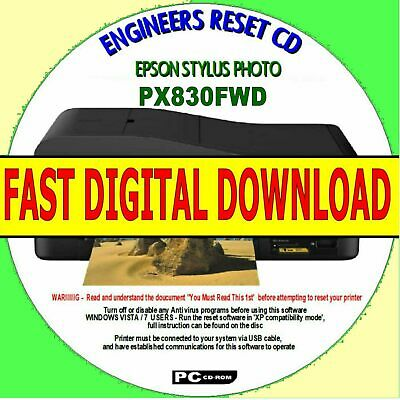 Epson Stylus Px830Fwd Waste Ink Pad Counters Error Reset Fast Digital Download
