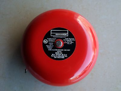 Edwards Audible Signal MB6-24 Red Fire Alarm Bell, 6 In, 24V 16-33VDC 0.045A ULC