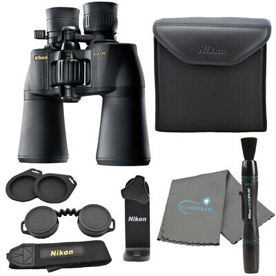 Nikon Aculon A211 10-22x50 Binoculars Black w/ Lens Pen, Cloth, Tripod Adapter