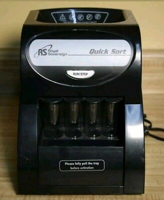 Royal Sovereign Auto Coin Sorter, Digital Automatic Electric ElectronicBlack