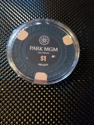 $1 Paulson Casino Poker Chip from the Park MGM Hotel & Casino in Las Vegas NV