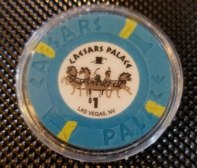 $1 CAESARS PALACE Las Vegas NV Hotel & Casino Gaming Chip Poker