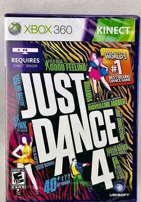 Just Dance 4 for Xbox 360 Brand New Factory Sealed   Best Sold Game 2 Years New