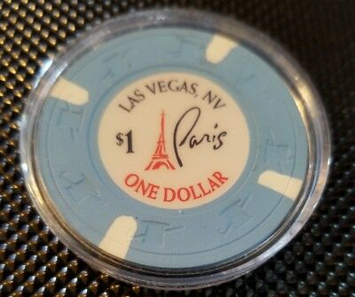 One Dollar Poker Gaming Chip Paris Las Vegas Hotel Casino Resort Fast Shipping