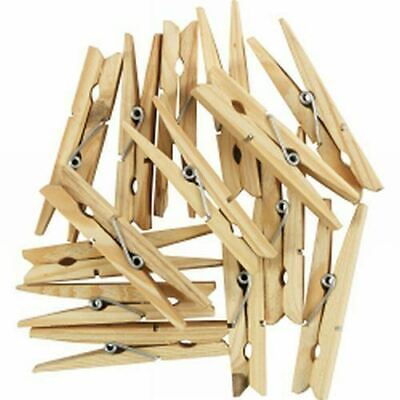 Wooden Pegs Clothes Pins Clips Washing Line Airer Dryer Line Wood Discounts
