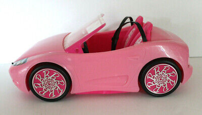 Barbie Glam Convertible Pink Sports Car Doll  2 Seater Pretend Bling lights