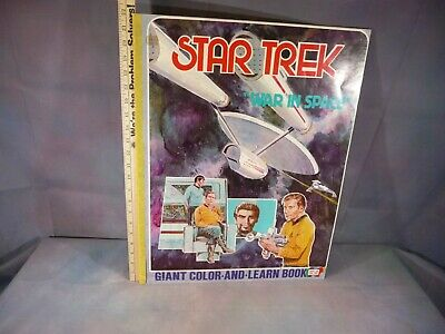 "Parks Run Giant Coloring Book 1978 Star Trek ""War In Space"" 17 x 22 inches"
