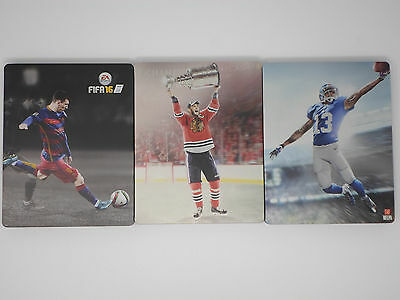 NEW PS4 Xbox 1 One FIFA NHL Madden 16 Special Edition Steelbook Lot - NO GAMES