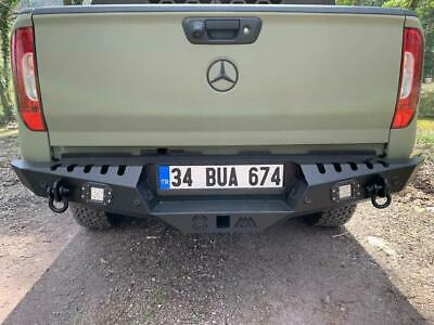 Mercedes X-Class  With Rear Steel Bumper Winch Tow Bar