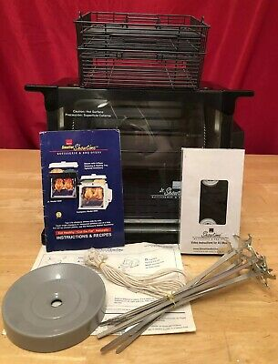 Ronco Showtime Jr Rotisserie Black 2500 BBQ Oven With Accessories