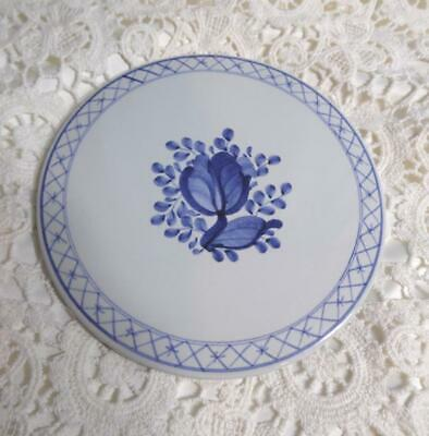 Vintage 1956 Royal Copenhagen Aluminia Faience Blue & White Tile from Denmark
