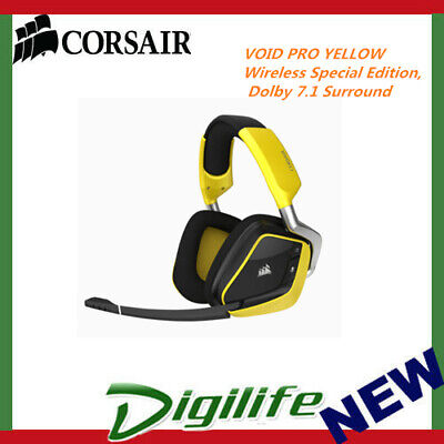 CorsairVOIDPRO YELLOW Wireless Special Edition, Dolby 7.1 Surround Sound Headset