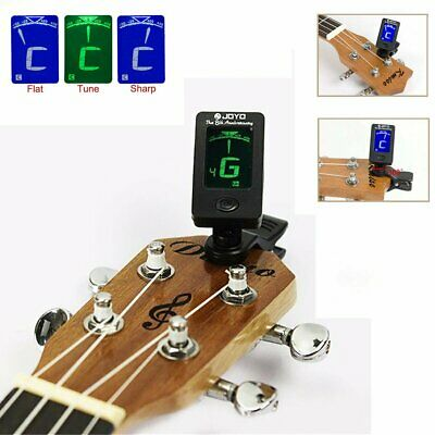 LCD Chromatic Clip-On Acoustic Guitar Tuner Digital Bass Violin Ukulele Tool