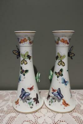 Rare Candlesticks of 100 Butterflies - Mei Lin Li - Franklin Mint - Collectable