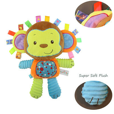 Lovely Soft Monkey Taggy Toy Baby Multi Sensory Toy,Built-in Bell