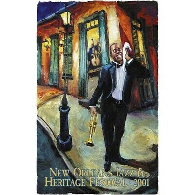 New Orleans Jazz Fest poster 2001 Louis Armstrong by Michalopoulos ... Low #52!