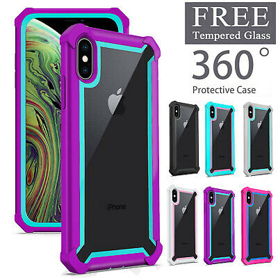 For iPhone XR XS MAX 7 8 Plus Shockproof Heavy Duty Hybrid Clear Case Cover US