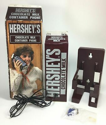 Vintage Hershey's Chocolate Milk Container Phone 1985 Complete Tested Works
