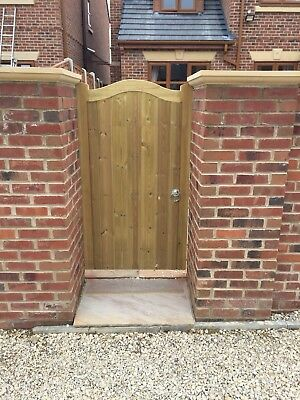 Solid Swan Neck Timber Gate. Bespoke Wooden Gates Made To Order. Tanalised
