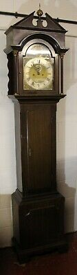 1900's Brass Face Mahogany 8 Day Grandfather clock.