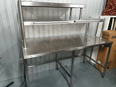 Used  Stainless Steel 1 phase Gantry Light Catering Kitchen Restaurant Pass Prep