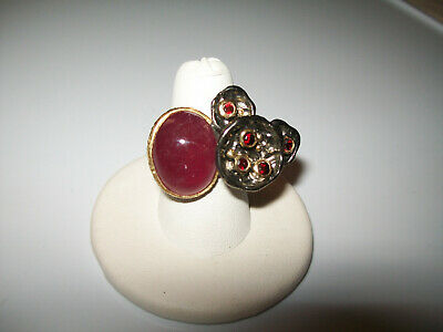 Lovely 14Ct Natural Ruby Designer Ring Size 6.5