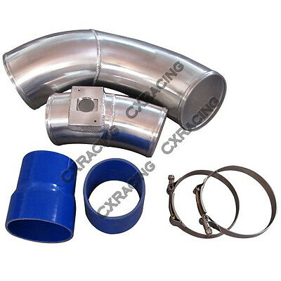 """CAI COLD 2.5/"""" Aluminum Air Intake Elbow Pipe For S13 SR20DET Stock Turbo SR20"""