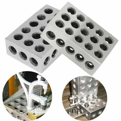 1 Pair 1-2-3 123 BLOCK Set Precision Matched Mill Milling Machinist 23 Holes