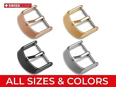 Fits OMEGA Watch Buckle Clasp For Leather Strap Band Silver Rose Yellow Gold