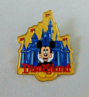 Disney DLR Pin - 1998 Attraction Series - Disneyland Castle and Mickey Mouse
