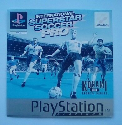 *FRONT INLAY ONLY* ISS Pro Front Inlay  PS1 PSOne Playstation