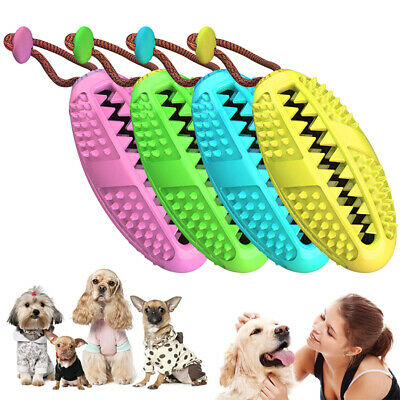 Dog Toothbrush Chew Stick Cleaning Toy Silicone Pet Brushing Oral Dental Care WW