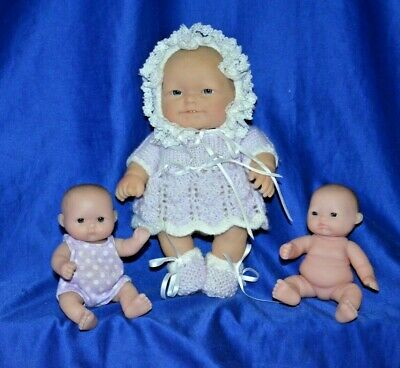 Berenguer 2 Small Chubby Baby Dolls and 1 Berenguer Chubby Baby Doll 20 cm