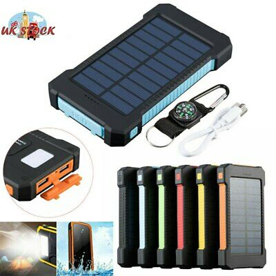 Dual USB 500000mAh Solar Power Bank Charger Battery Emergency Charger Waterproof