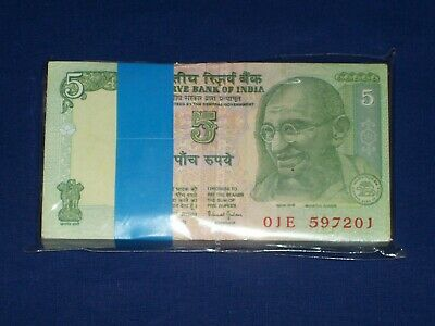 INDIA  10  RUPEES 2008   P 95c  Letter M  LOT 2 PCS Uncirculated Banknotes