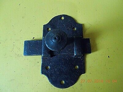ANTIQUE FRENCH CAST IRON DOOR LATCHES BASE PLATE MEASURES 11cm x 6cm 4 AVAILABLE