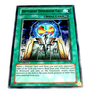2X YUGIOH Different Dimension Gate DCR-044 - SILVER Rare NEW (ship worldwide) X2
