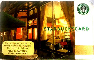 STARBUCKS 2006 The Classic Storefront Gift Card! NO VALUE BILINGUAL--0-- balance